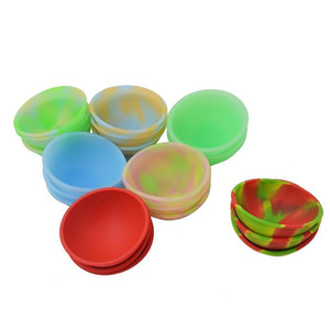 20pcs mini silicone pinch bowl fluorescent soft flexible dab jars container dinnerware set kitchen tools for bho wax oil hash t191014 7ejmk