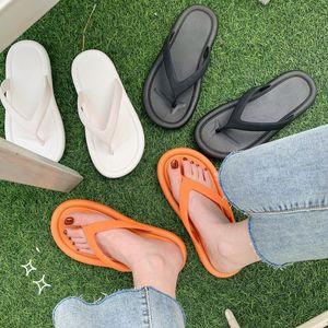 Flip flops Korean fashion wild simple retro female slippers clip feet beach vacation non-slip comfortable flat bottom slippers