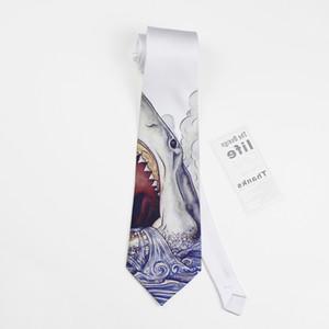 free shipping casual male MEN'S Fashion British Van Ceremony Dress Tie Shark Dreamland wedding Groom party man 8cm