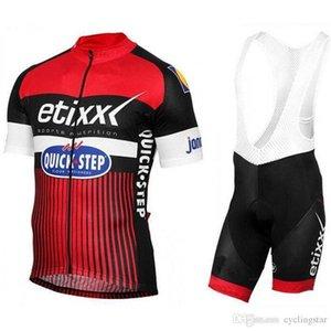 2020 Ropa Ciclismo Etixx Quick Step Велоспорт Джерси Велосипед Одежда с коротким рукавом Костюм велосипедов Майо Велоспорт одежда Летняя Mtb Sportwear