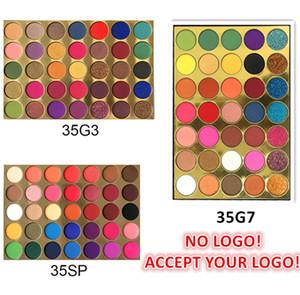 Kein Logo! 35 Farben Lidschatten-Palette Matt und Schimmer Glitter Lidschatten Pallete Eye Cosmetics Makeup Tool Akzeptieren Sie Ihr Logo