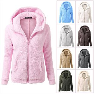 Autumn Winter Women Hoodies Fleece Hooded Long Sleeve Zipper Thicken Coat Outwear Sudaderas Jacket Sweatshirts Lady