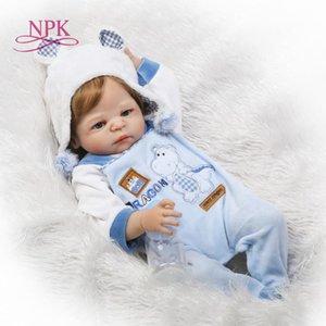NPK 23 inch White skin Baby Dolls Realistic Full Silicone Vinyl Alive Girl Reborn Baby Doll For Children Gifts bonecas reborn 201021