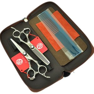 "High Quality 6.0"" Japan 440c Barber Cutting Scissors Purple Dragon Hair Shears with Maya Handle for Salon Hairdressers A0073B"