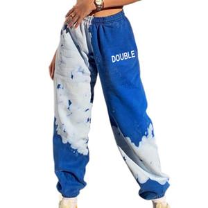 Pantaloni da donna Lettera Lettera Lettera Tie Dye Baggy Pants Pantaloni estetici Joggers Donne jogging Vintage Y2K Abbigliamento 2021