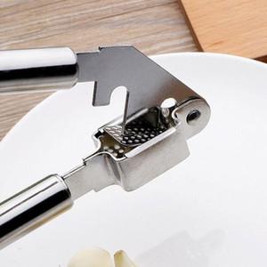 Aço inoxidável Garlic Press Dispositivo de esmagamento Cozinha Cozinhar Ferramenta Alho pressão de mão Presser Crusher Ginger Squeezer Slicer Masher DWF2159