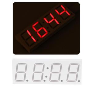 DS3231 Electronic DIY 0.8inch Dot Matrix LED Clock Kit 4 Digit Display 5V Mciro USB Car Clock