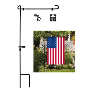 Garten-Flagge Fahnenstange Metall Flag Pole-Halter Halloween Weihnachten Ostern Garten Flag Stehen Yard Flags Pole FWD2878