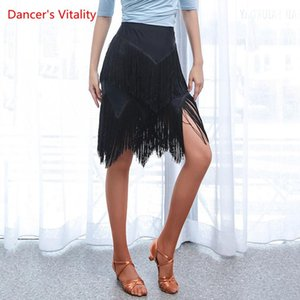 Latin Dance Exercise Clothes New Female Adult Sexy Tassel Skirt Profession Dancing Performance Practice Clothing
