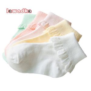 Lawadka 10 peças / lote algodão crianças meias moda esporte curta meias bebê meninas meias lj201019
