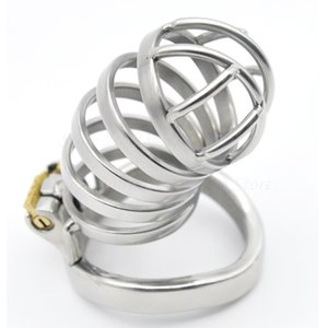 New Stainless Steel Stealth Lock Male Chastity Device,Penis Rings Cock Cage,Virginity Belt,Adult Game Product Sex Toys For Man Y200410