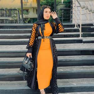 Abaya Dubai Kaftan Hijab Islam Ropa Musulmán Kimono Cardigan Caftan Abayas para Mujeres Turquía Chiffon Ramadan Eid