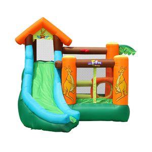 Aufblasbare Kangaroo Bouncer Castle Slide-Kinder nach Hause Frech Castle Spielplatz Trampolin Kangaroo Kindergartenspielhaus Haushalt Spielzeug