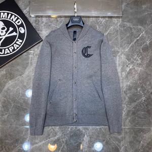 2020 chaqueta de invierno de los hombres Botón de manga larga sudaderas con capucha diseñadores Cardigan suéteres Uniforme de béisbol rompevientos Sport V-cuello Ropa
