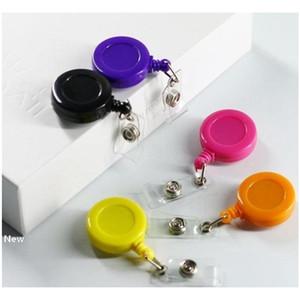 retractable lanyard id card badge holder reels with clip keep key cell phone keychain ring reels iia10