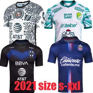 Liga MX 21 22 Club America Soccer Jerseys Leon Troisième 2021 2022 Mexique Léon Tijuana Tigres Unams Men Kids Chivas Cruz Azul 3ème shirts de football