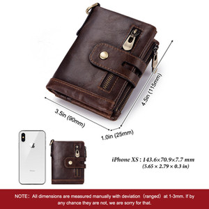 Mens Coin Le 2020 Anti-Theft Wallet Leather Crazy Card Tri-Fold New Horse Slots Swiping Multiple Designers Bags Luxurys Wallet 2019rfid Pfxp