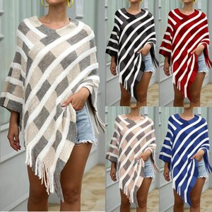 Autumn Winter coat women casual New Fashion Coat Winter Knitted Cashmere Poncho Capes Shawl Cardigans Sweater W1028
