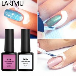 Proteção dos dedos Skin Cream Whit Latex protegido Nail Glue Easy Clean com Nipper Peel Off Líquido Tape Form prego mqyh polonês #
