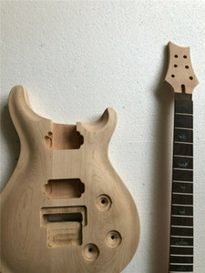 1set Unfinished guitare cou Corps érable + acajou guitare électrique Kit 22 frettes bricolage