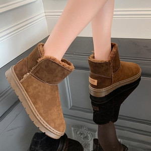 Boots Women New 2020 Flat Heel Women's Shoes Platform Winter Footwear Round Toe Booties Ladies Australia Low Heels