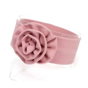 2020 Baby fashion cotton headband Elastic knot super big bow headwrap Girls Boutique soft fabric hair accessories