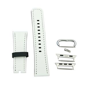 sublimation blanc bande en cuir PU pour la bande iWatch 42mm hommes 38mm femmes remplacement Bracelet Apple montre 1/2/3/4/5
