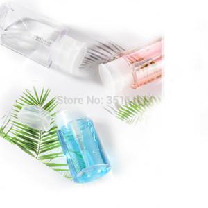 100ml 150ml 200ml Transparent Plastic Press Pump Bottle Nail Polish Gel Remover Empty Liquid Alcohol Water Storage Container