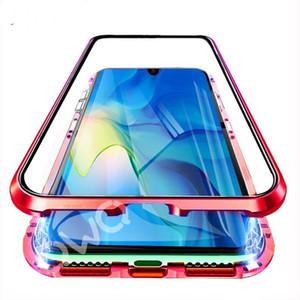 Cassa del telefono di vetro magnetico del metallo del Regno Unito per Huawei P20 P30 Pro Lite P Smart 2019 Casi di protezione per Huawei Mate 20 Lite Pro Cover Flip