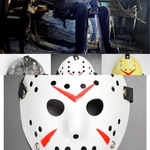 Full Halloween Cosplay Costumes Face Killer Masks Jason Vs Friday Horror Hockey Costume Scary Mask Vintage Retro Kids Adult Prop QLIK