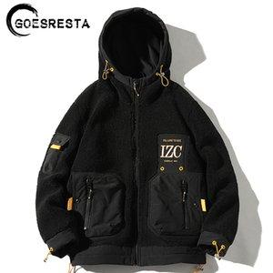 Goesresta New Hombres Moda Marca Marca Gruesa Street Wild Otoño Y Invierno Suelte Chaqueta Caliente Hombres 201111