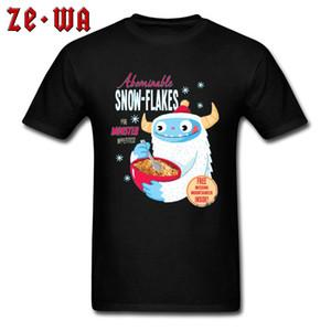 спорт Abominable Snow-Хлопья монстр Дизайнер Мужчины Лучшие футболки O образным вырезом с коротким рукавом 100% хлопок Европы Лучшие футболки День отца