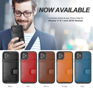 High Quality Leather Wallet Flip Case for iphone 12 Mini 11 Pro Max X XS XR 7 8 Plus Cover Card Slots Kickstand