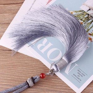 1 unids alta calidad cuerda de cuerda borlas bricolaje llavero gorras correas joyería haciendo encantos colgantes artesanía accesorios artesanía borlas H qylwjv