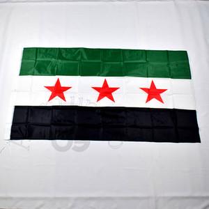 Siria 90 * 150cm la Repubblica araba siriana siriana tre stelle bandiera Banner 3x5 piede Hanging bandiera decorazione domestica C1002