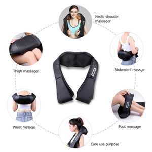 U Shape Electrical Shiatsu Back c Infrared Heated Kneading Car Home Massagem Best Gift HealthCareRabin