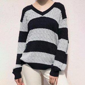 Autunno delle ragazze dei maglioni del cotone dell'annata 2020 le signore della moda autunnale delle signore dei pullover sciolti delle donne dei pullover delle donne degli outfits chic1