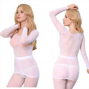 Sexy Sheer Mesh See Through Top Blouse and Leggings Underwear Sunscreen Slim Fit Nude Feeling for Women