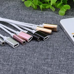 Type -C Audio Charging Cable 2 In 1 Type C To 3 .5 Earphone Audio Cable Adapter For Listening Music Charging Simultaneously