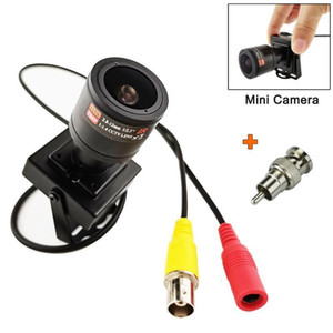 Micro metallico Micro 2,8-12mm Lente Varifocal Mini Camera 700TVL Lente regolabile + Adattatore RCA per sicurezza CCTV Camera Car Swogliaking1