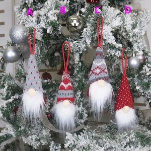 Weihnachtsbaum Anhänger Faceless Puppe Dekoration liefert Plüsch Alte Puppe Anhänger Weihnachtsschmuck Festliche Partei HH9-3359