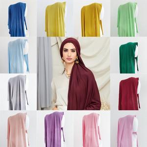 Malezya Modal Kadınlar Uzun Eşarp Tek renkli Ter-Emici Kumaş Merserize Saf Renk Eşarplar 180 * 55cm Adedi = 10pcs 39 Renkler