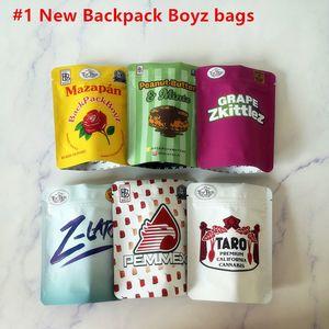 새로운 도착 3.5g Mylar 가방 Tomyz Merzcato Backpack Boyz 33 가스 페이스 오레오즈 민트 100mm * 128mm 420 건조한 허브 꽃 포장