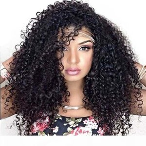 Curly Full Lace Wig Brazilian Lace Front Human Hair Wigs For Women Pre Plucked Natural Black Remy Hair