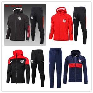 2019 2020 Bayern Munich Veste à capuche Kits 19 20 JAMES MULLER manches longues Football Survêtement Hommes Costumes Bayern Hooded formation sportswear
