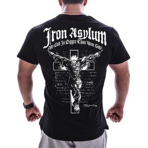 Palestre da uomo fitness t-shirt pesi fitness t shirt estate casual stampato cx10 x1214