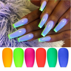 1 Box Fluorescent Nail Glitter Bulk Glow In The Dark Nail Powder Colorful Polish Chrome Dust Pigment Nail Art De jllzEp