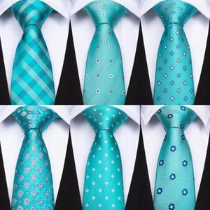 Barry.Wang мужские галстуки Зеленый цветочный Пледы Dots шелковых галстуков Платок Клип Set DiBanGu Привет-Tie Tie для мужчин Свадьба BK-001