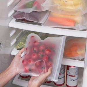S / m / l / l eva food stoccaggio sacchetto contenitori frigorifero cibo sacchetto fresco sacchetto riutilizzabile frutta riutilizzabile sacchetti di tenuta di verdure da cucina organizzatore sacchetto HHA3482