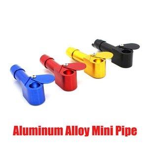 Aluminum Alloy Mini Pipe Fashion Portable Detachable Pipes Smoking Metal Pressure Pipe Cigarette Burning Pipe Smoking Accessories DHL